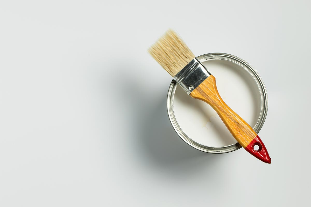 Paint the trim first